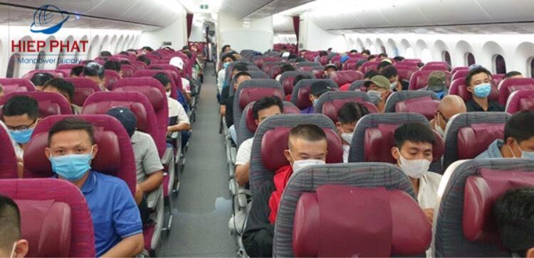 Hình ảnh nhân sự huy động sang Qatar